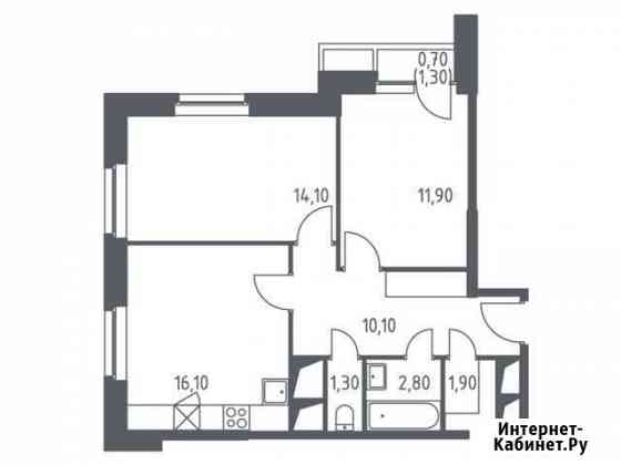 2-комнатная квартира, 58.9 м², 6/32 эт. Красногорск