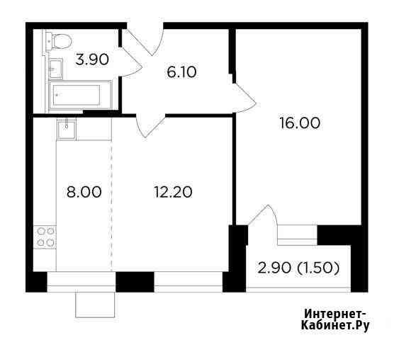 2-комнатная квартира, 47.7 м², 2/17 эт. Мытищи
