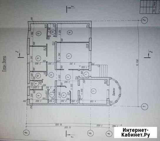 Дом 167 м² на участке 11 сот. Курск