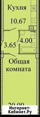 1-комнатная квартира, 38.6 м², 1/9 эт. Псков
