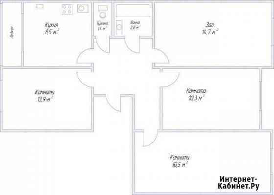 4-комнатная квартира, 73 м², 3/3 эт. Арзамас