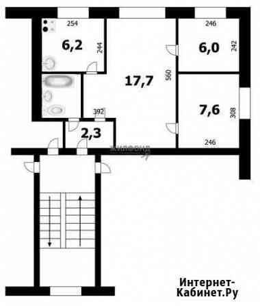 3-комнатная квартира, 42.7 м², 3/4 эт. Новосибирск