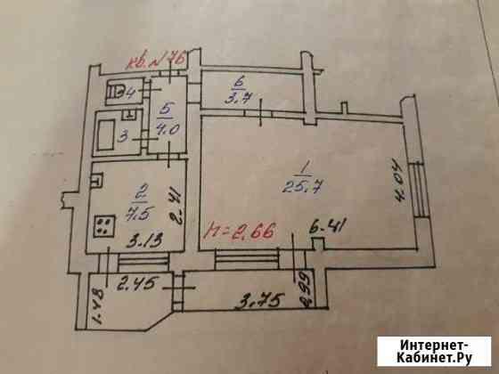 1-комнатная квартира, 45 м², 8/9 эт. Железногорск
