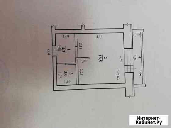 1-комнатная квартира, 28 м², 1/3 эт. Чита