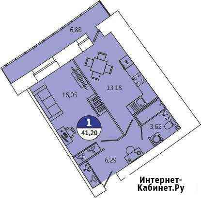 1-комнатная квартира, 41 м², 12/12 эт. Северодвинск