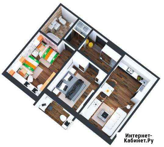 3-комнатная квартира, 58.5 м², 13/16 эт. Барнаул