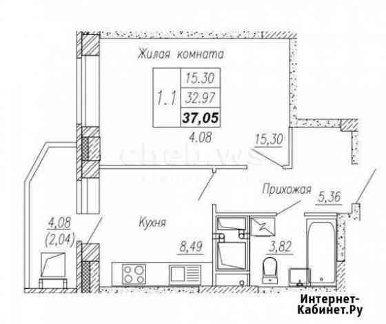 1-комнатная квартира, 37 м², 11/24 эт. Чебоксары