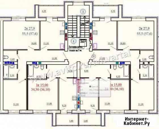 2-комнатная квартира, 57 м², 5/5 эт. Иваново