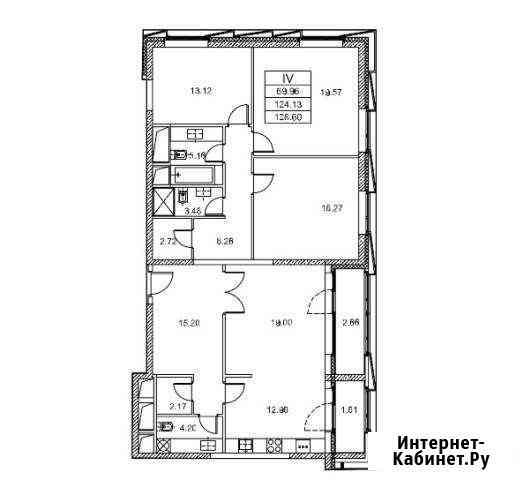 4-комнатная квартира, 136.4 м², 7/20 эт. Москва