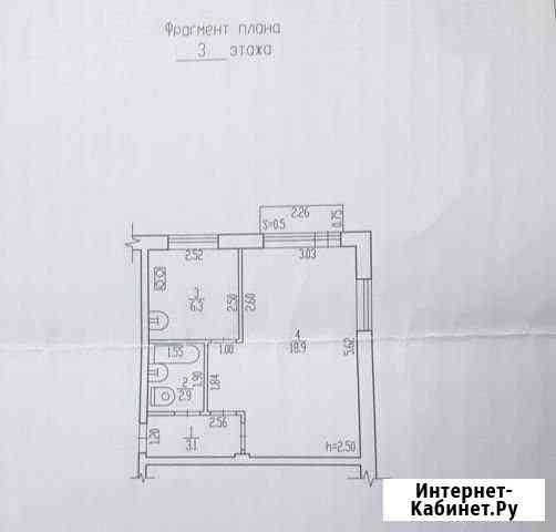 1-комнатная квартира, 31 м², 3/5 эт. Брянск