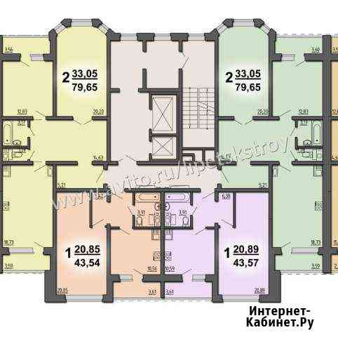 3-комнатная квартира, 79.7 м², 8/17 эт. Липецк