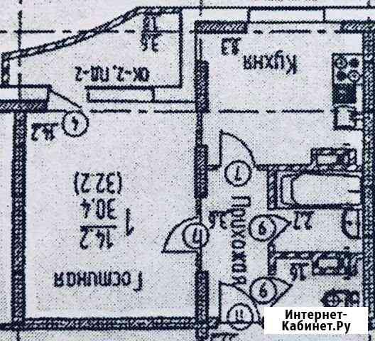 1-комнатная квартира, 31.1 м², 8/16 эт. Воронеж