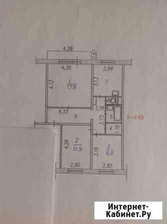 3-комнатная квартира, 64 м², 8/10 эт. Новокузнецк