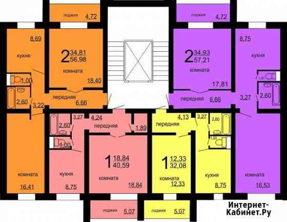1-комнатная квартира, 43 м², 7/10 эт. Челябинск