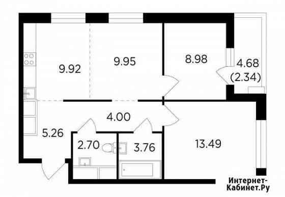 3-комнатная квартира, 60.4 м², 18/25 эт. Одинцово