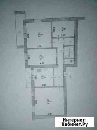 4-комнатная квартира, 75 м², 3/9 эт. Курск
