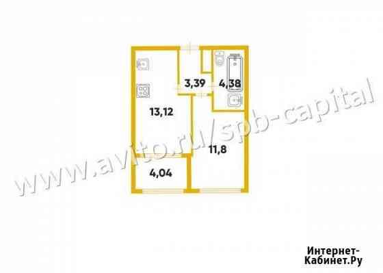 1-комнатная квартира, 35.2 м², 10/25 эт. Санкт-Петербург