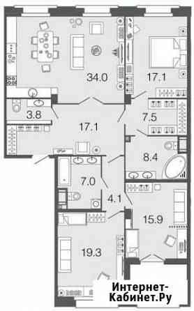 3-комнатная квартира, 134.2 м², 2/9 эт. Санкт-Петербург