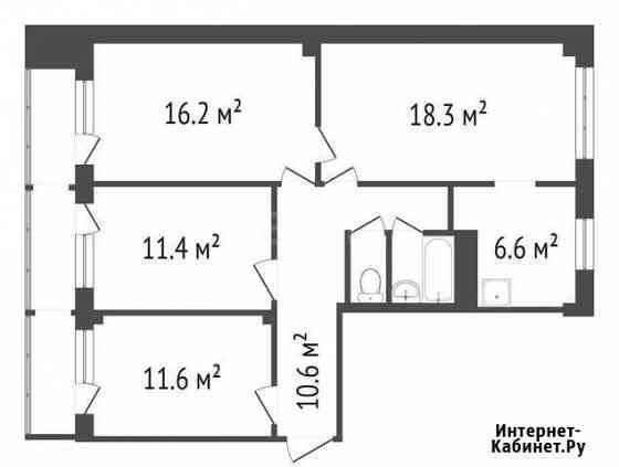 4-комнатная квартира, 78 м², 3/9 эт. Красноярск