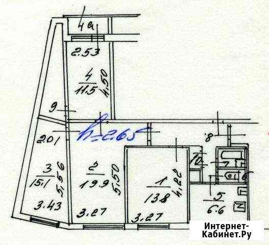 4-комнатная квартира, 86.1 м², 1/12 эт. Москва