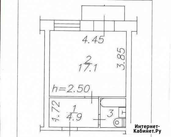 1-комнатная квартира, 24.4 м², 4/5 эт. Новокузнецк