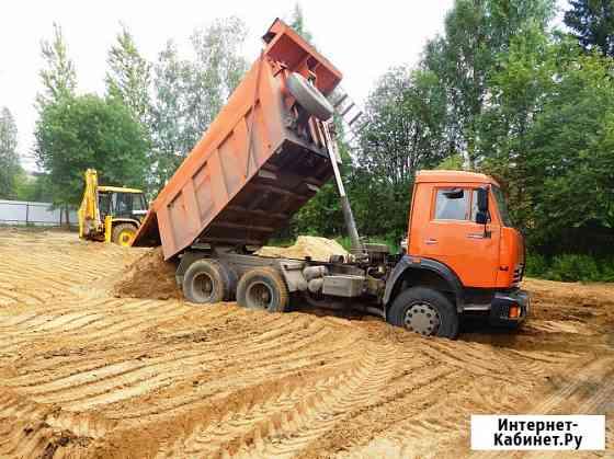 Доставка песка, щебня, чернозёма, грунт, глина Курск
