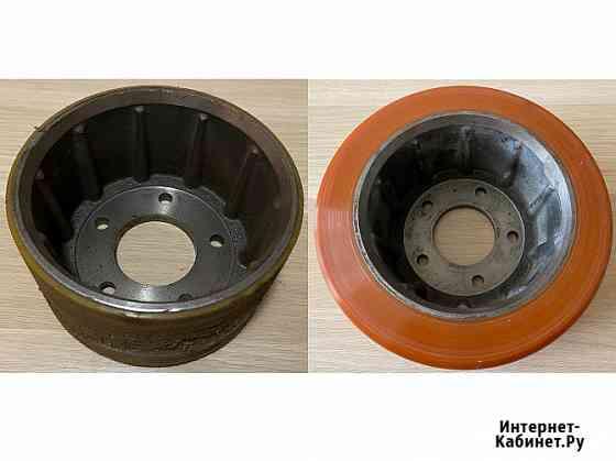 Восстановление полиуретанового покрытия колес и роликов для складской техники Санкт-Петербург