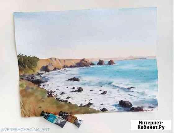 Картина Дикие пляжи Кара-Дага, Крым. Пейзаж Санкт-Петербург
