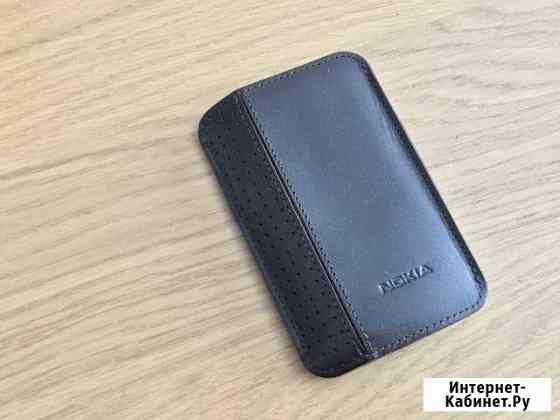 Чехол Nokia (темно-коричневая кожа) Новый Москва