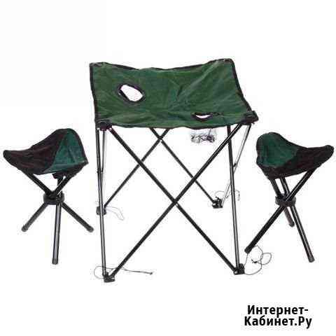 Стол кемпинговый складной + 2 стула Ижевск