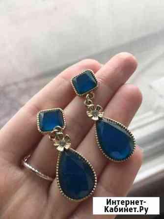 Серьги голубого цвета Челябинск