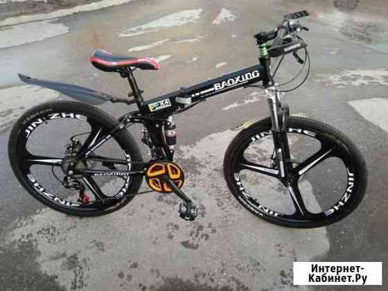 Новый велосипед на литых дисках, черный Ульяновск