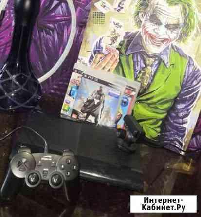 Sony PS3 + 4 игры Петропавловск-Камчатский