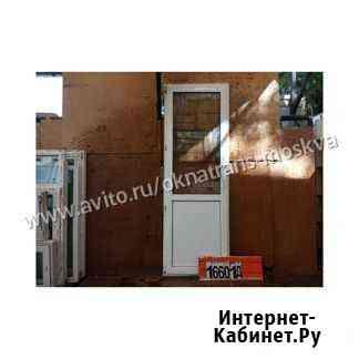 Пластиковые двери Б/У 2400(В) Х 820(Ш) балконные Москва