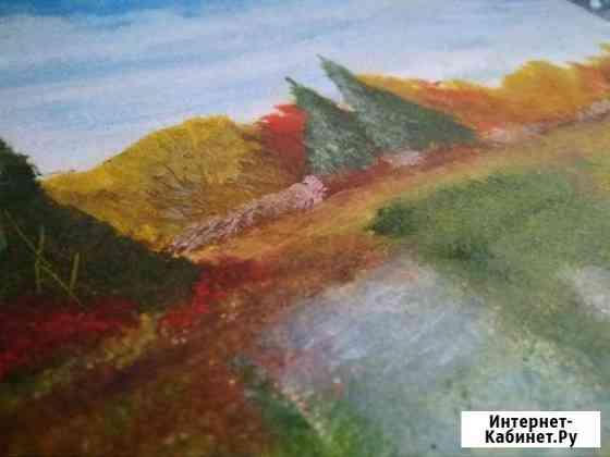 Картина маслом. Осенний пейзаж Гвардейское