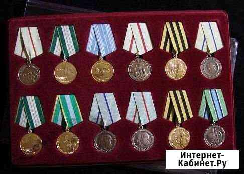 Планшет под медали, 12 ячеек с крышкой Красноярск