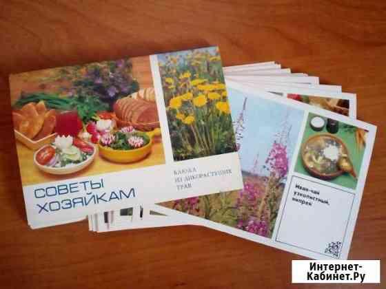 Набор открыток Советы хозяйкам. Блюда из трав Бийск