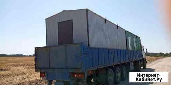Бытовка новая 6м серого цвета с торцевой дверью Ростов-на-Дону