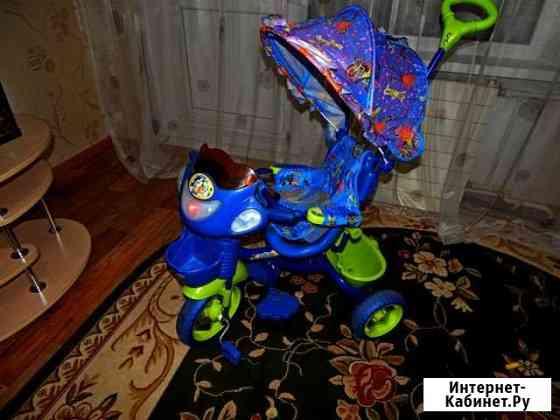 Велосипед детский трёхколесный с ручкой/музыкой Усть-Кут