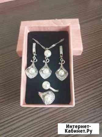 Набор серебро белая жемчужина Рязань