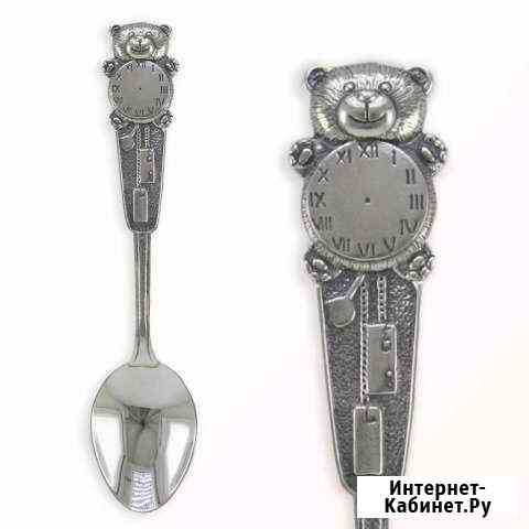 Серебряная ложка Мишка Махачкала