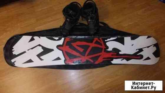 Продам комплект сноуборд + ботинки Комсомольск