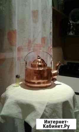 Старинный медный чайник (3 лит.) Северская