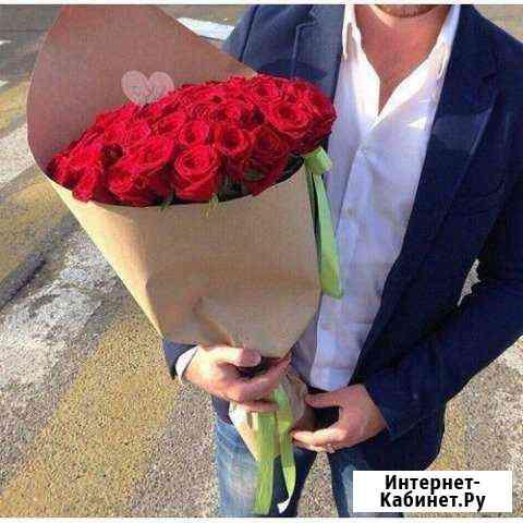 Розы букет 25 шт (60 см) Иркутск