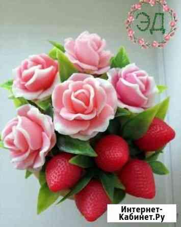 Букет цветов из мыла / Розы в клубнике Барнаул