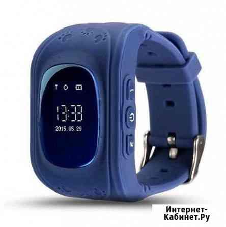 Q50 Детские часы с GPS Smart Baby Watch синие Нижнекамск