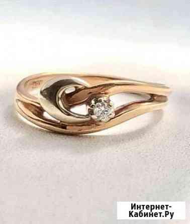 Золотое кольцо с бриллиантом Воронеж