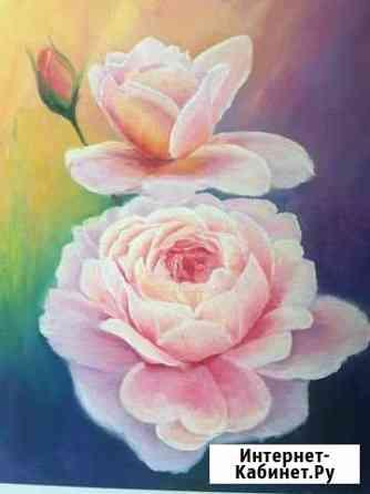 Картина масло цветы Астрахань
