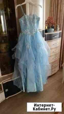Платье выпускное. Лёгкое, нежно голубого цвета Астрахань