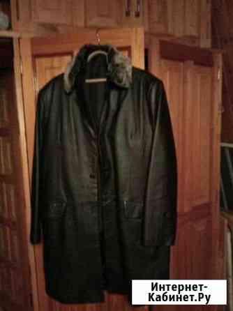 Мужское кожанное пальто демисезонное Елец